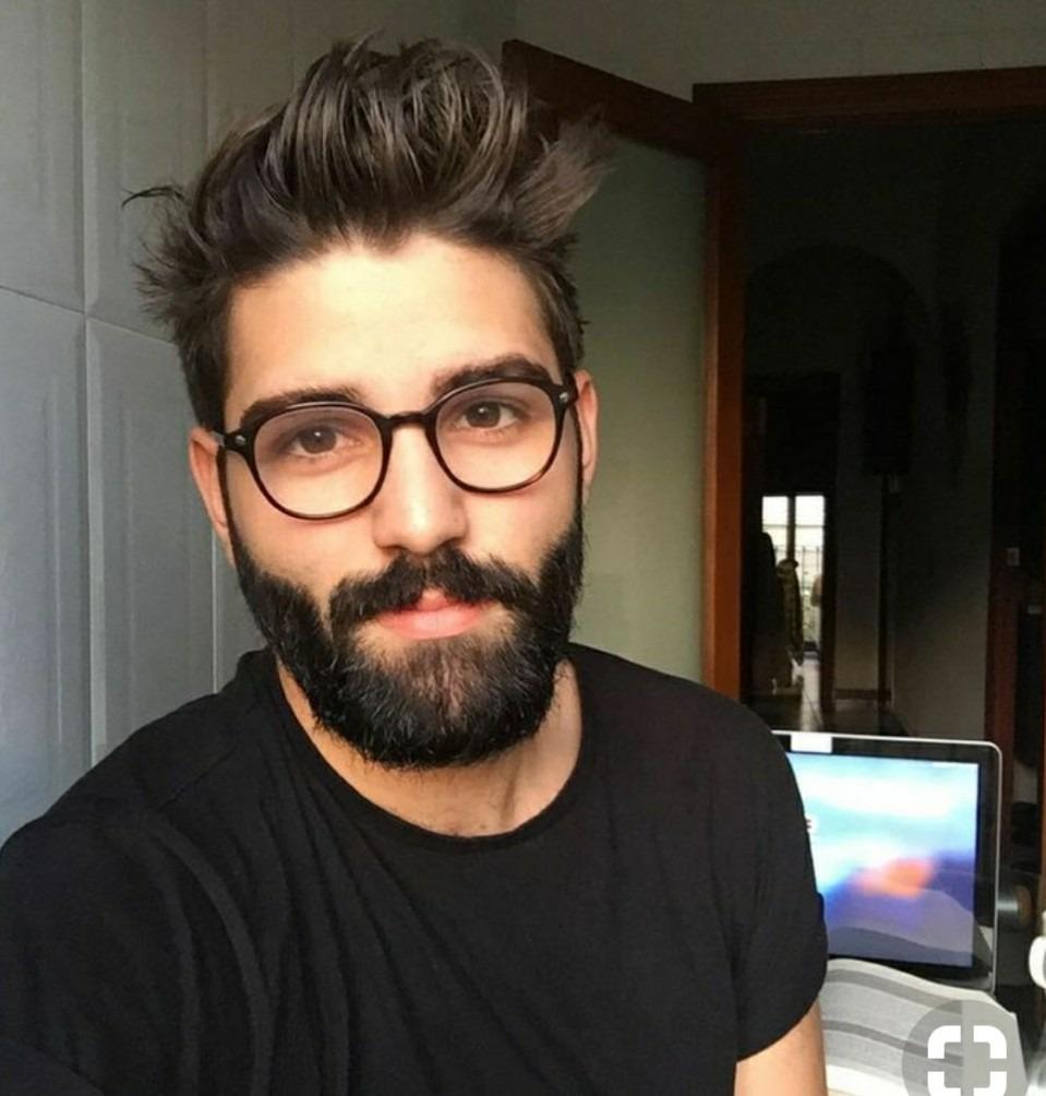 Óculos Sem Grau Preto Tendência Nerd Masculino Redondo - R  49,51 em ... 7fdcda308d