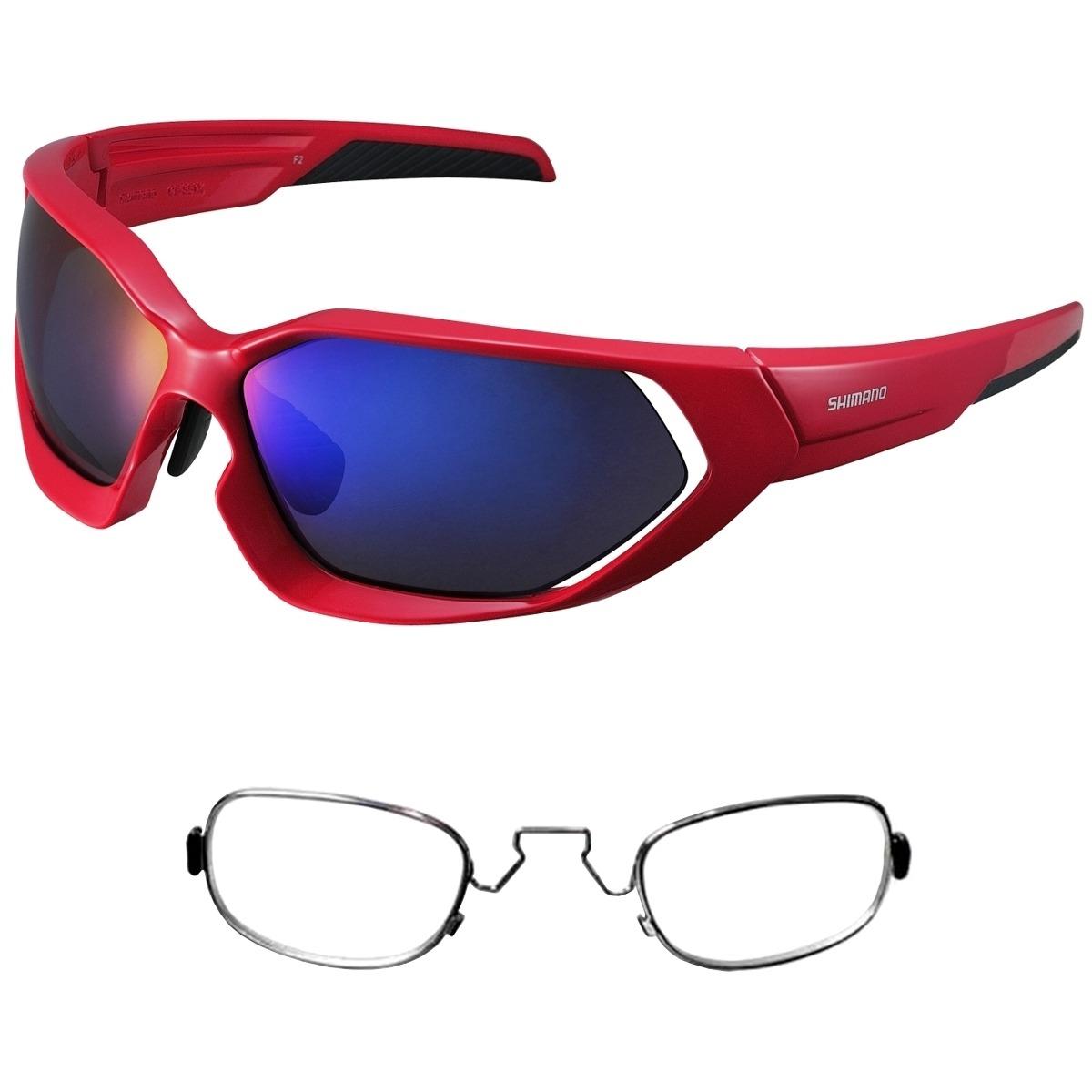911b230fd2080 óculos shimano ce-s51x vermelho 3 lentes + armação rx clip. Carregando zoom.