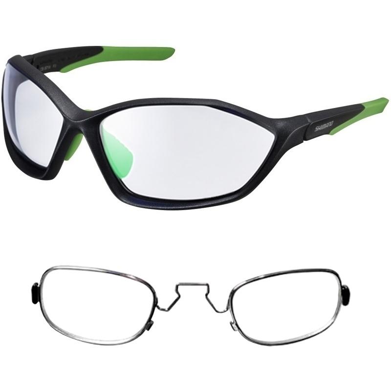 ad6e1f10b11ba óculos shimano ce-s71x-ph fotocromático preto verde+rx clip. Carregando  zoom.