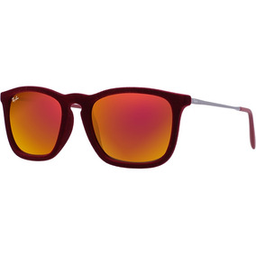 016a25b5784b2 Ray Ban Chris Rb4187 6078 6q Veludo Red Quadrado Original