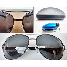 07cbb6dac7a29 Oculos De Sol Aviador Spectre S2 + Estojo E Porta Oculos