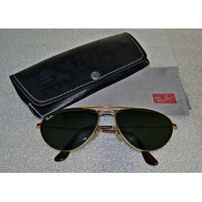 18bcb8f65 Óculos Ray Ban Aviador Caçador Vintage Antigo Lente Verde Bl
