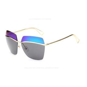 f0129363efb99 Óculos Sol Quadrado Espelhado Feminino Aço Metallic 000 Xz63. 3 cores