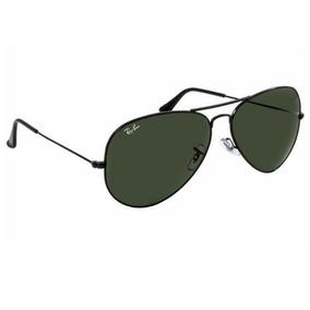 c5bf6f98b Oculos Rayban Aviador Dourado Lente Preta - Óculos no Mercado Livre ...