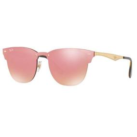 1ec99e42a Oculos Sol Ray Ban Blaze Clubmaster Rb3576n 043/e4 47mm Rosa