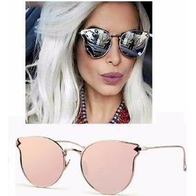 4a8d013fa22d4 Oculos De Sol Feminino Estilo Gatinho Espelhado - Óculos no Mercado ...