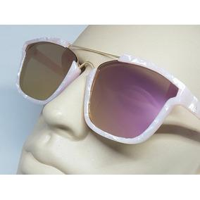 45dcc2c61b9ed Oculos De Sol Rosa Quadrado Pink Fashion Estilo Madreperola