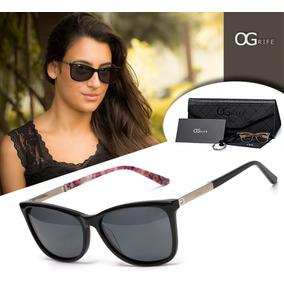 6f9b4bc4292c1 Oculos Sol Feminino Preto E Prata - Óculos no Mercado Livre Brasil