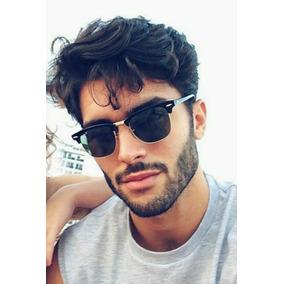 dba993a8c14c6 Óculos De Sol Escuro Masculino Espelhado Tendencia Moda 2019