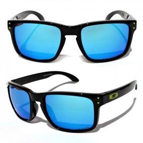 65ce3abf1 Oakley Holbrook Branco Lente Azul De Sol - Óculos no Mercado Livre ...