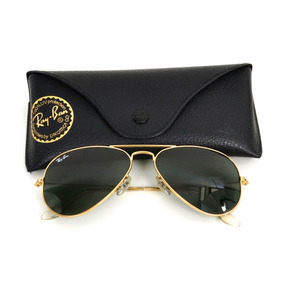 c9989561e327f Óculos Ray Ban Aviador Dourado Com Lente Marrom Degrade - Óculos no ...