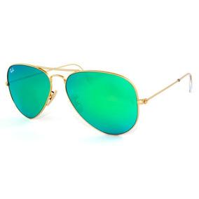 736c87bf98120 Ray Ban 3025 Aviador Dourado Com Lente Verde G15 De Sol - Óculos no ...