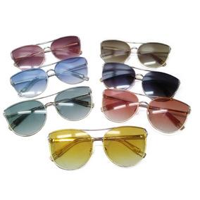 f1e294621fadb Lote 3 Oculos Feminino Colorido Transparente Atacado Revenda · R  100