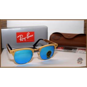 58932190dbb05 Óculos De Sol Ray Ban Clubmaster Rb3016 - Lente Azul. Rondônia · Rb3507  Clubmaster Alumínio