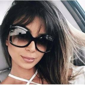 b0329a887b8c3 Oculos De Sol Feminino Degrade Grande - Óculos no Mercado Livre Brasil