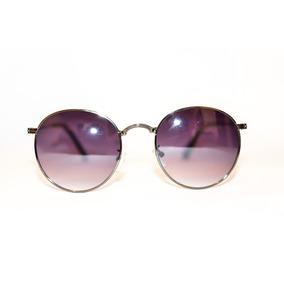 bfcb62f7b33cc Oculos De Sol Redondo Masculino Feminino Preto Lente Degrade · R  74 99