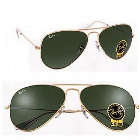 2f8a43878d1af Oculos Rayban Lente Verde Aviador - Óculos no Mercado Livre Brasil