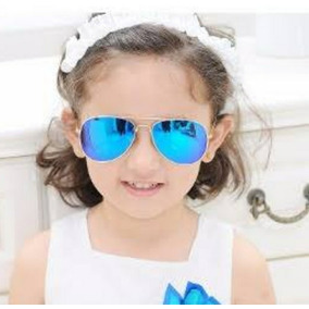 eab58f890ed68 Óculos De Sol Infantil Aviador Espelhado Menino Menina