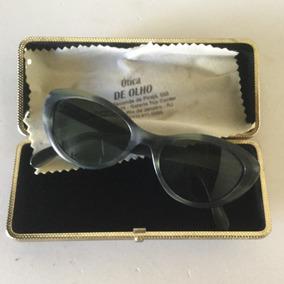 8da9754bbb26c Óculos De Sol Vintage Gatinho Com Estojo Anos 60