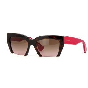 3d4c26fb00c67 Óculos Com Grau Miu Miu Réplica Vermelho - Calçados