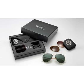 a15808507b6f8 Oculos Rayban Kit Com 3 Lentes De Sol Ray Ban - Óculos no Mercado ...