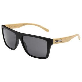 8474dab87868b Óculos De Sol Hb Floyd Preto Fosco Wood Lente Cinza
