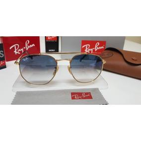 b2db9c63e0403 Óculos Sol Ray-ban Marshal Rb3648 Dourado Com Cinza Degradê
