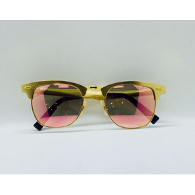 4db01962ce7de Rayban Clubmaster Aluminio Marrom - Óculos no Mercado Livre Brasil