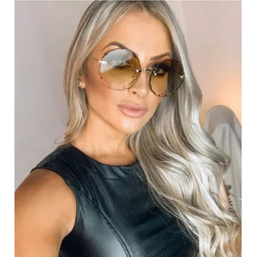 be366bcb34077 Luxuosos Oculos De Sol Fashion Marfim - Óculos no Mercado Livre Brasil