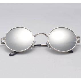 251d6df169d32 Óculos Sol Redondo Espelhado John Lennon Ozzy Retrô Vintage