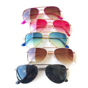 b56abde1c53eb Oculo Aviador Dourado - Óculos no Mercado Livre Brasil