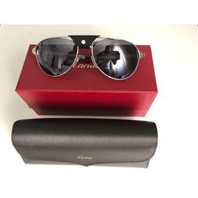 52652a94aec Óculos De Sol Cartier Dourado Ñ É Santos Dumont Paris 125 - Óculos ...