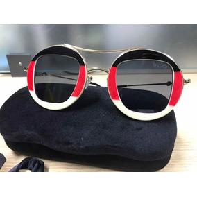 350253f0f4d7a Óculos Gucci Gg 3588s W1ueu Acetate Plastic Blau Grau Grey G ...