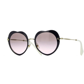 1d6373d935b3d Óculos De Sol Miumiu Redondo Preto Mesclado - Óculos no Mercado ...