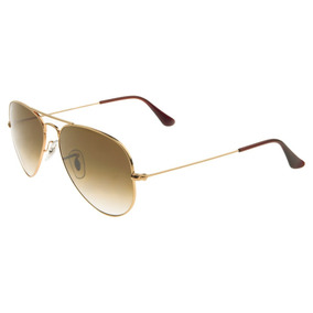e3958de62b818 Ray Ban Aviador 3024 Dourado Lentes Marrom Degradê Cristal - Óculos ...