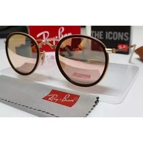 d216062764c22 Óculos Ray Ban Round Rb3517 51mm Dobrável
