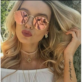 7a0ebdcae Oculos De Sol Espelhado Rose Gold - Óculos no Mercado Livre Brasil
