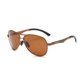 3a1cb5a16 Óculos De Sol Unissex Aviador 100% Lentes Polarizado Uva Uvb