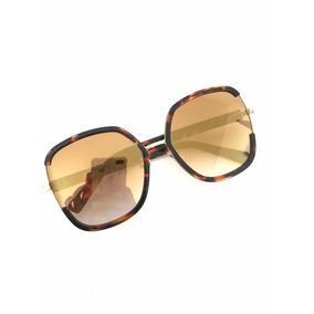 2012e65d8a82f Óculos De Sol Feminino Chic Estiloso Quadrado Blogueira Mod