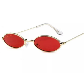 27fbb0fde1214 Óculos Sol Redondo Pequeno Trap Hype Retro Vermelho Amarelo