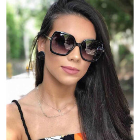 3884ddec3 Óculos De Sol Quadrado Grande Fmeinina Estiloso Degrede New. 3 cores
