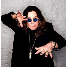 c4af1d6367d41 Óculos Ozzy Azuis Black Sabbath Rock Metal Retrô Anos 80 90