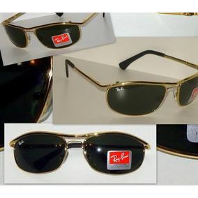 dc3b9a7af2f69 Rayban 8012 Dourado Com Lentes Cristal Verdes - Óculos no Mercado ...