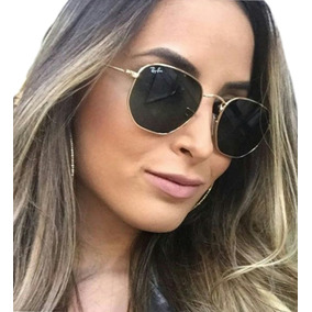 66392d8c8431e Óculos Feminino Masculino Hexagonal Blogueiras Promoção