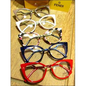89a8ec37d3664 Oculos De Grau Feminino Vermelho Oncinha Fendi - Óculos no Mercado ...