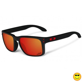 5b20e383d99e7 Óculos De Sol Oakley Holbrook Vermelho Masculino Polarizado