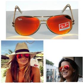 f1fa05cca Óculos Ray Ban Aviador Lente Espelhada Vermelha - Óculos no Mercado ...