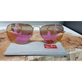91b46fad48650 Óculos De Sol Ray-ban Aviator Rb3025 112 4t Pink Espelhada