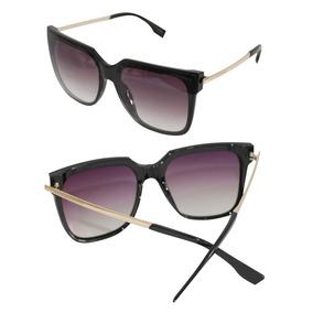 c85528ce9881d Óculos De Sol Feminino Quadrado Lente Degradê Uv 400