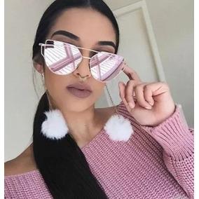 e540de8616476 Óculos De Sol Feminino Geométrico Gato - Óculos no Mercado Livre Brasil